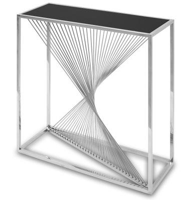 Стильная стеклянная современная консоль гламур Хром