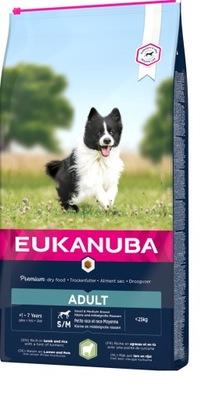 EUKANUBA Adult Small Medium Breed Lamb Rice 12kg