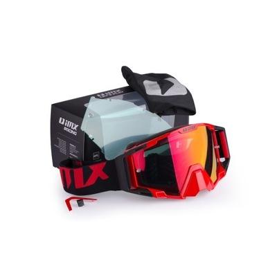 GOGLE IMX SAND RED/BLACK CROSS ENDURO ATV 2 СТЕКЛА