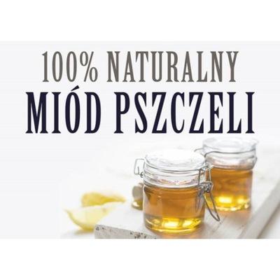 Tablica DUŻA XL reklamowa MIÓD PSZCZELI F242