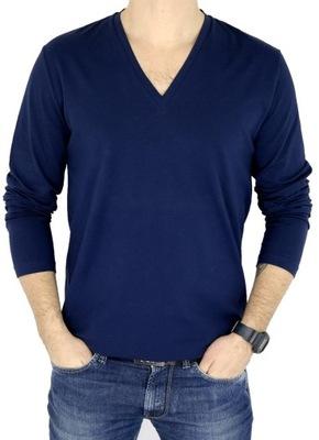 HUGO BOSS longsleeve męski T-shirt granat XL
