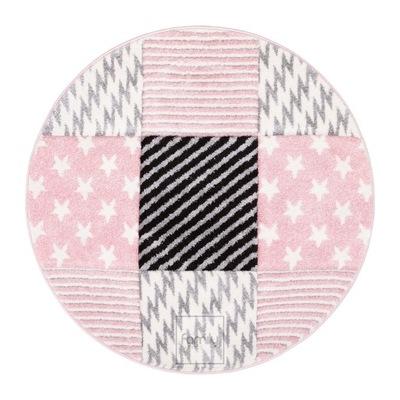 Dywan okrągły fi 100 różowe Gwiazdki Art. 506