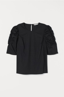 Bluzka z bufiastym rękawem H&M r.38