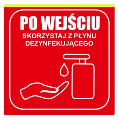 Tabliczka 20cm Skorzystaj z płynu dezynfekującego