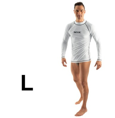 Koszulka UV męska rash guard SEAC T-SUN biała L