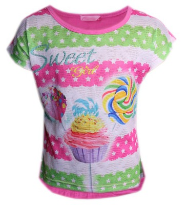Dziewczęca bluzka z krótkim rękawem 146-152