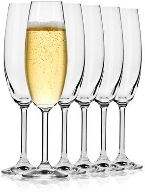 Smukłe kieliszki do szampana KROSNO Venezia 200ml