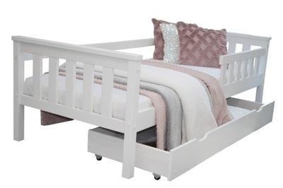 кровать детское белое ASIA 80x160 +КАРКАС барьер