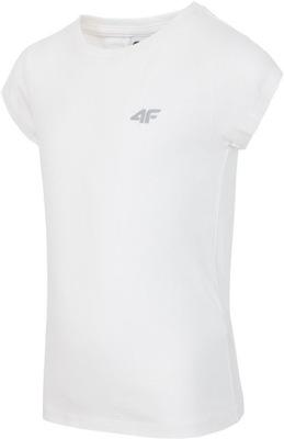 4F T-SHIRT DZIEWCZĘCY J4Z17-JTSD200 biały 128cm