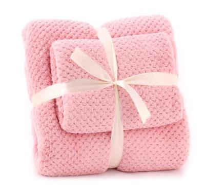 комплект полотенца из микрофибры 2шт РОЗОВЫЙ
