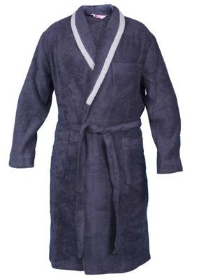Płaszcz kąpielowy FROTTE bawełna PKM grafit r. 4XL