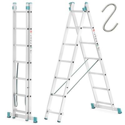 Лестница алюминиевая малярный rozstawna 2x7 Высшее