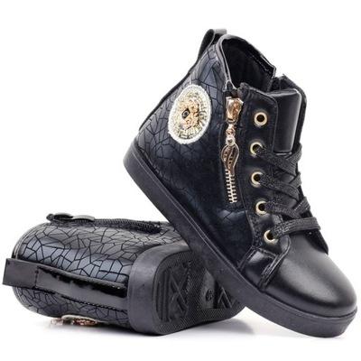 Botki-sneakersy czarne 1 Evgeniya rozmiar 35