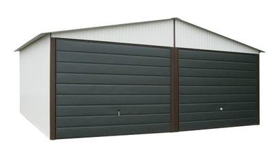 Гаражи из листового металла, 6x5 гараж Железный Белый Blaszaki