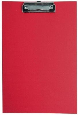 Deska A4 PVC z klipem czerwona D.RECT