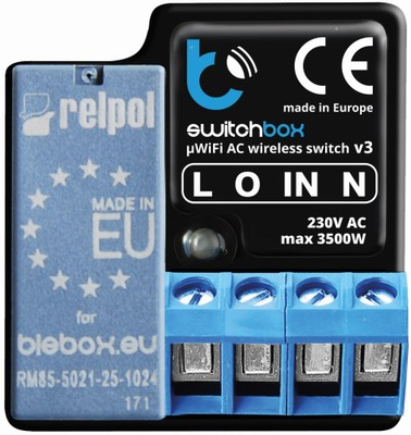 switchBox V3 BleBox реле Wi-Fi 3500W ИЗМЕРЕНИЕ