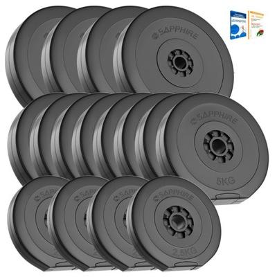 ZAŤAŽTE 90 kg súpravu (4x2,5 + 8x5 + 4x10kg) plátov