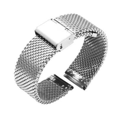 Bransoleta do zegarka Shark Mesh 18mm srebrna