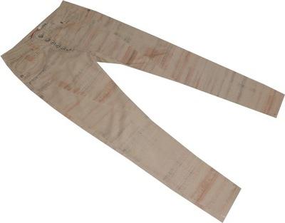 PLEASE_38_BAWEŁNIANE spodnie Z ELASTANEM rurki 126