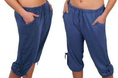 SPODNIE dam. RYBACZKI spodenki 028 duże XXL jeans