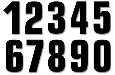 BLACKBIRD NUMERY СТАРТОВЫЕ 13CM X 7CM NR8 (3SZT.)