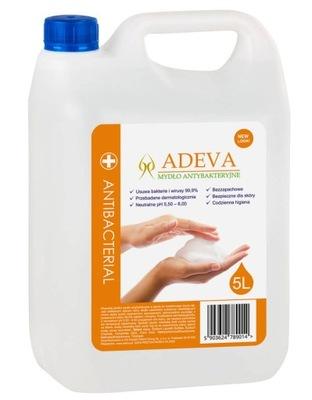 Mydło ANTYWIRUSOWE do rąk Adeva SKUTECZNOŚĆ 99% 5L