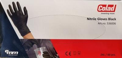 COLAD RĘKAWICE rękawiczki nitrylowe czarne r. XXL