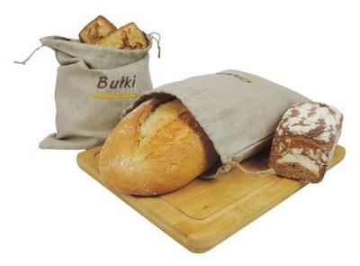 Lniane worki na pieczywo 2 szt. (chleb oraz bułki)