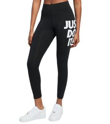 NIKE legginsy DAMSKIE sportowe JUST DO IT czarne