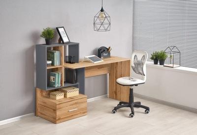 GROSSO biurko dąb wotan / antracyt Halmar