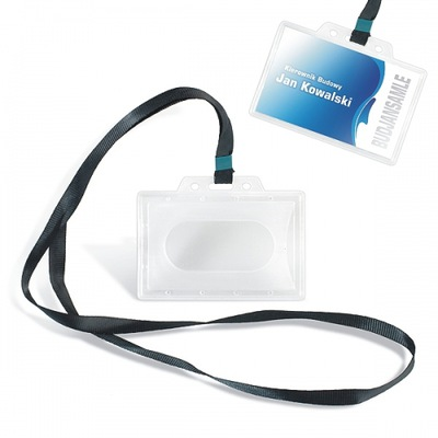 Identyfikator PCV z taśmą badge 1 sztuka
