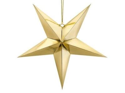 Gwiazda papierowa, 70cm, złoty