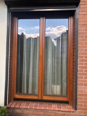 Okno dębowe drewniane marka Urzędowski
