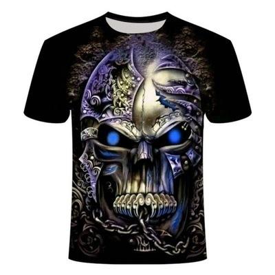 T-shirt koszulka męska wzór CZASZKA 3D ŚMIERĆ M