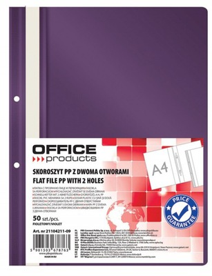 Skoroszyt Office Products A4 fioletowy