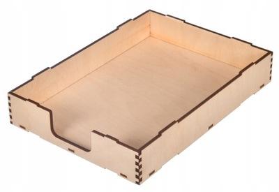 ORGANIZER NA DOKUMENTY A4 pojemnik pudełko DREWNO