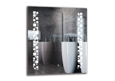 Zrkadlo s osvetlením pre kúpeľňa LED 60x70 M1ZD-46