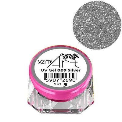 Semilac Semi Art UV Gel 009 Silver żel do zdobień