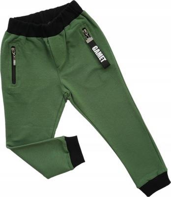 Spodnie dresowe chłopięce ściągacz GAMET 122