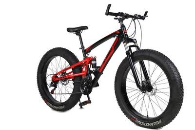 Rower 17 FAT BIKE 2xAmortyzator 21 biegów Koło 26