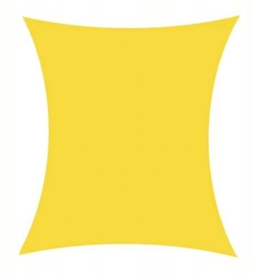 Żagiel PRZECIWSŁONECZNY wodoszczelny 3x4m żółty