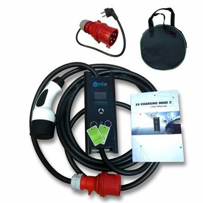 Ładowarka do samochodu 7,4kW, typ1 + adapter 230V