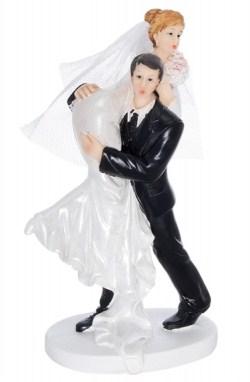 Figurka Romantyczna Śmieszna tort weselny ślubny