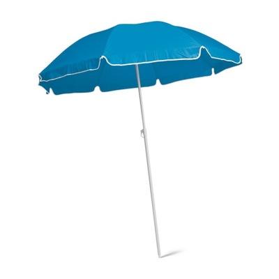 Parasol plażowy ogrodowy składany niebies UV lekki