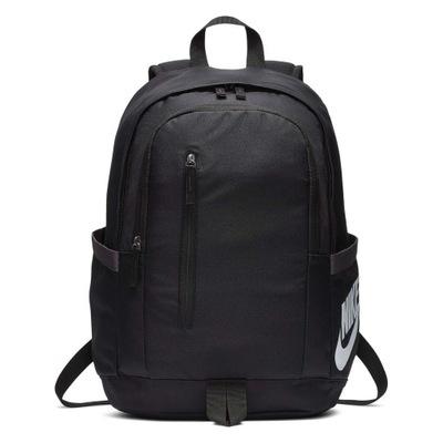 Czarny Plecak Nike Do Szkoły Na basen Na Siłownie
