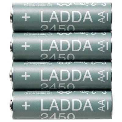 IKEA akumulatorki LADDA 2450mAh AA 4 sztuk HR6 R6