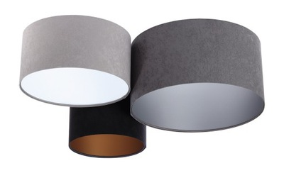 Moderné Stropné Rôznych Graphite gray black