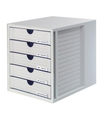 Zestaw 5 szufladek System-Box A4 szary