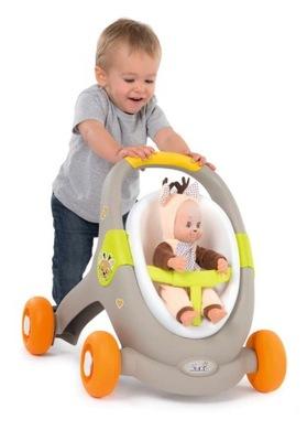 SMOBY MiniKiss Chodzik wózek dla lalki 3w1 PCHACZ