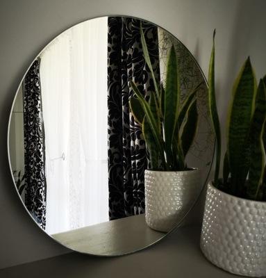 Kruhové zrkadlo, leštené, priemer 70 cm, strieborné